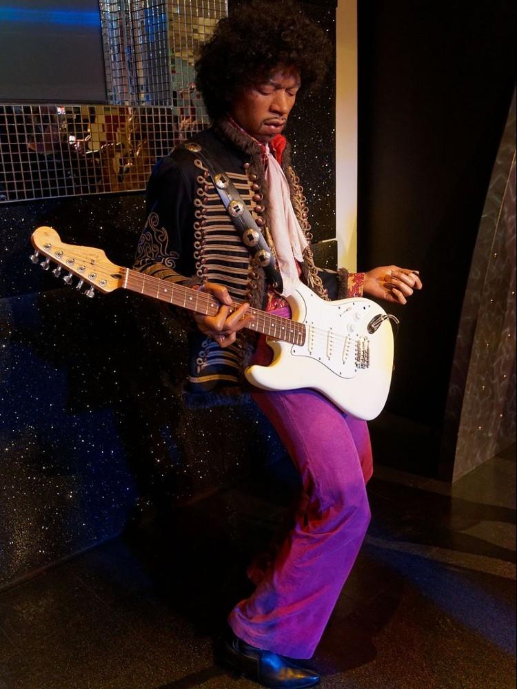 Jimi Hendrix wax figure at Madame Tussauds London