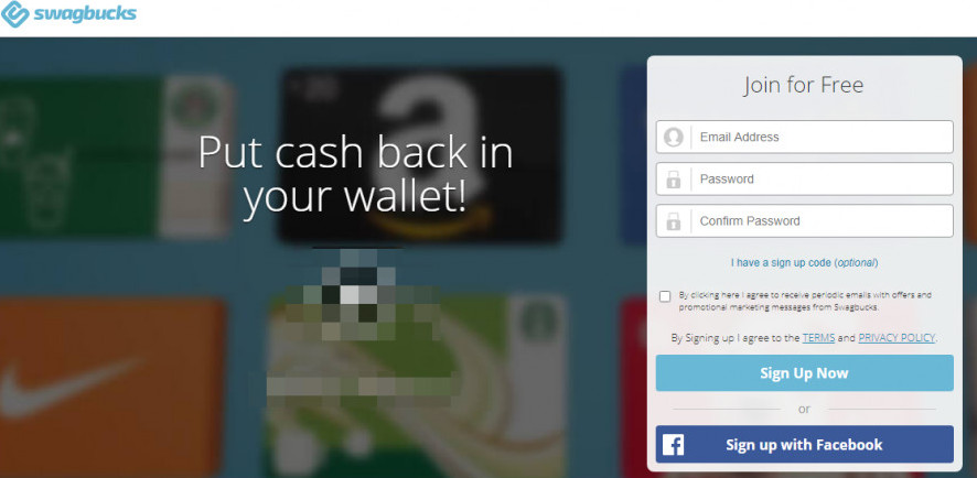 How to get paid for watching videos -An image of SwagBucks