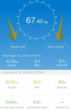 The renpho body fat scale review-A phone screen shot