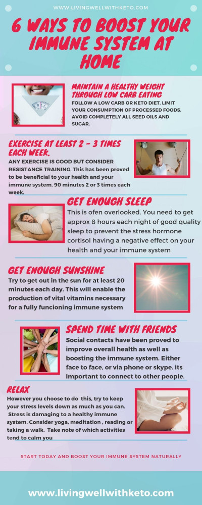 6 ways to boost your immune system at home