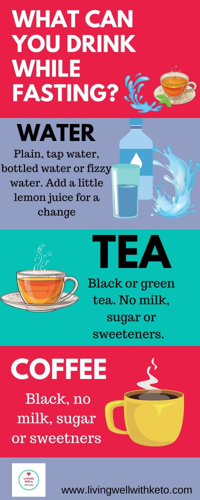 What can you drink while fasting?