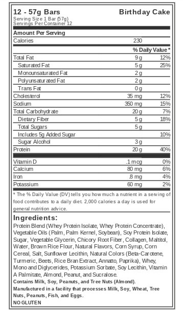 Bodybuilding.com Protein Bars - Signature Snack