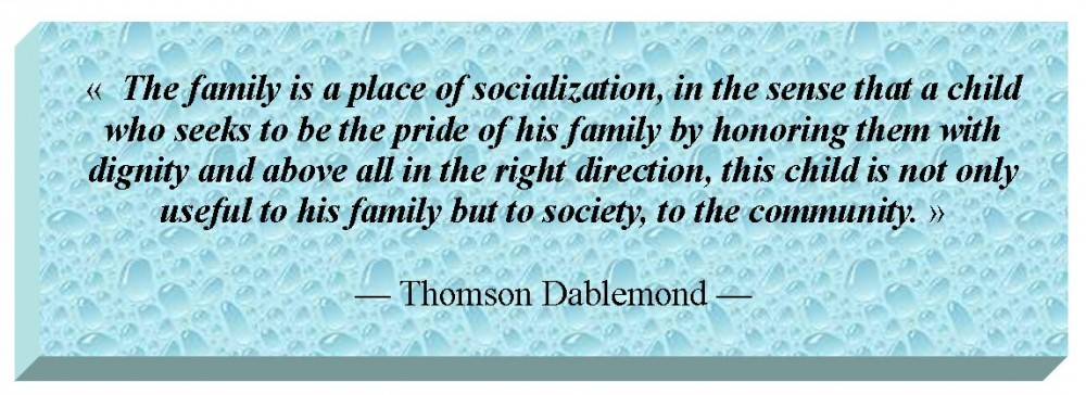 the family and socialization