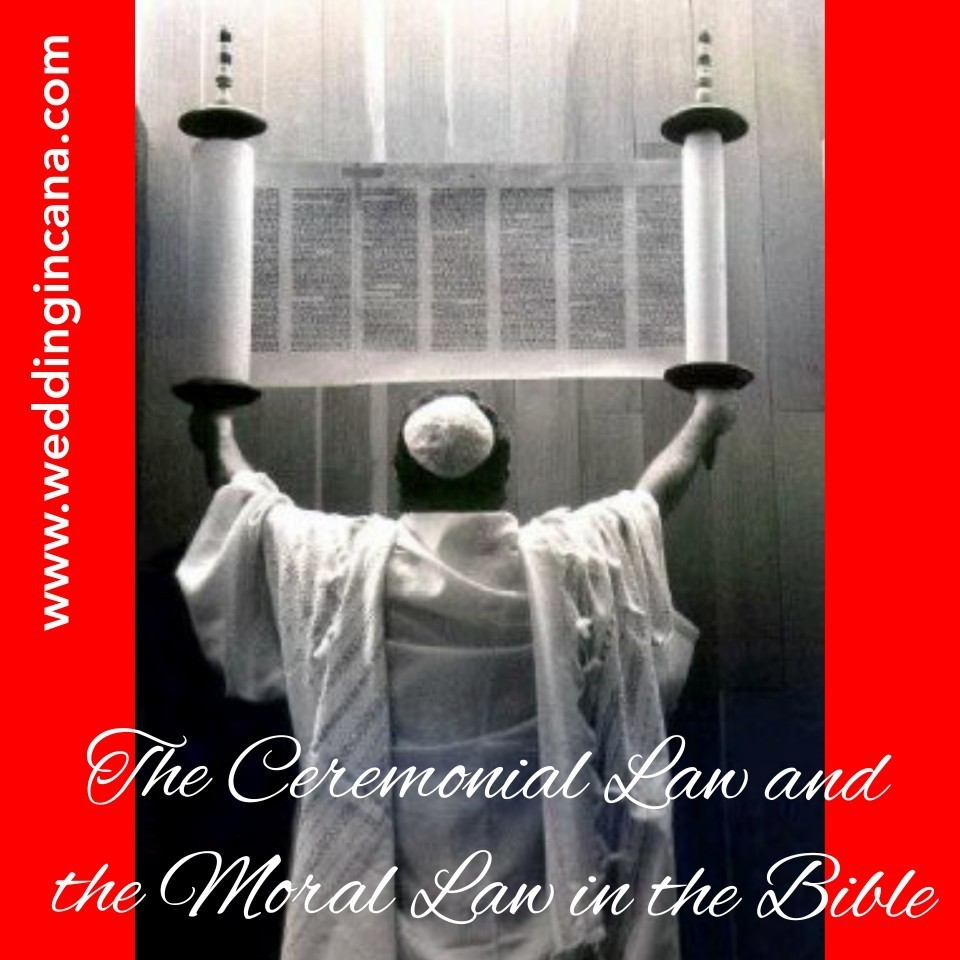 How to distinguish between the ceremonial law and the moral law in the Bible?