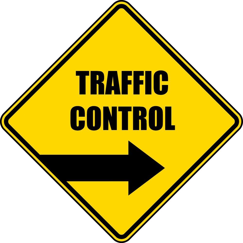 traffic control sign
