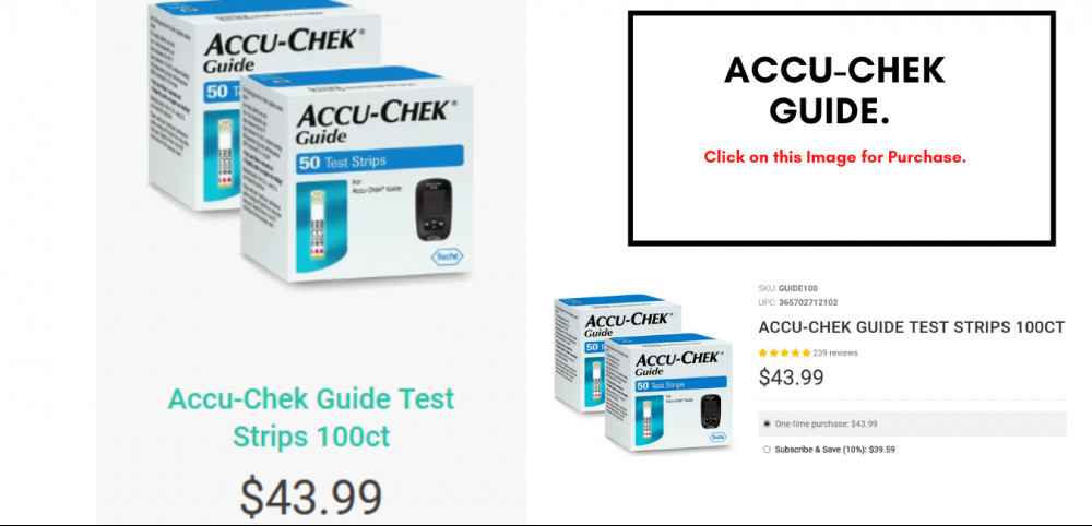 Accu-Chek Guide Test Strips 100ct by Golda.