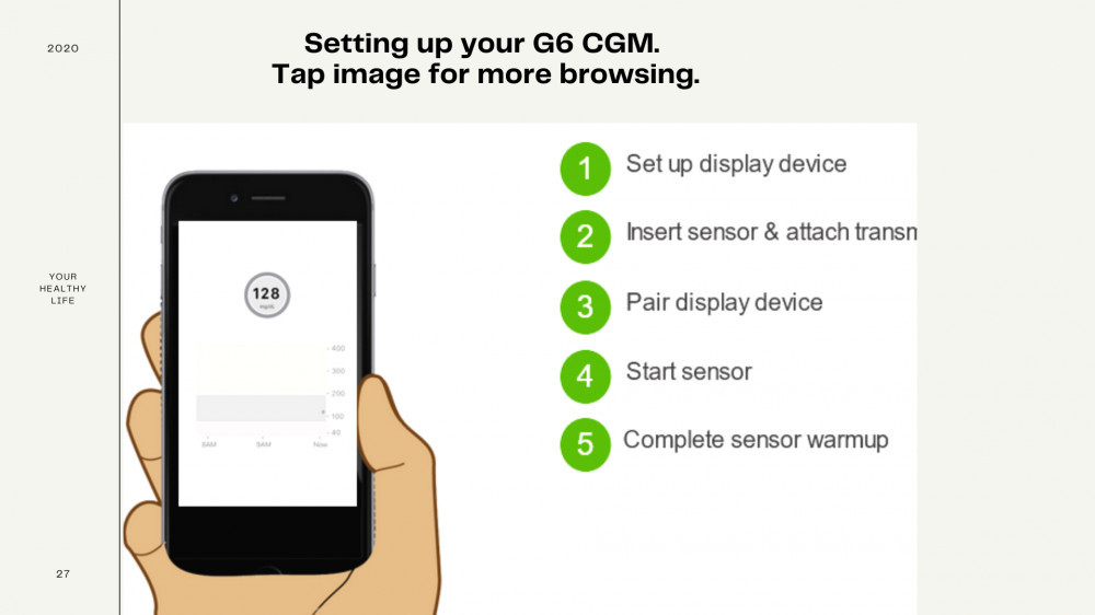 Setting up your G6 CGM