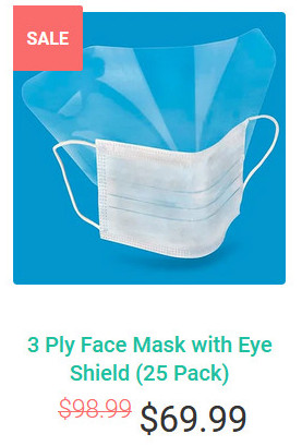 3 Ply Face Mask with Eye Shield (25 pack) review by Akon.
