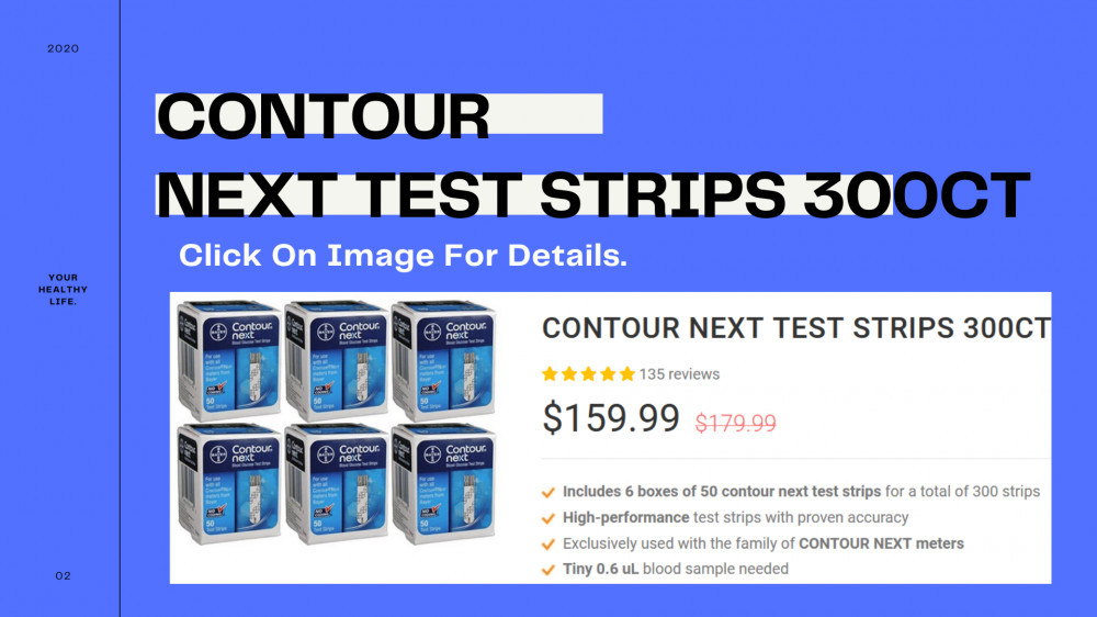 CONTOUR NEXT TEST STRIPS 300ct REVIEW by Shu Golda.