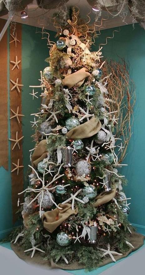 Beach themed Christmas tree idea 2