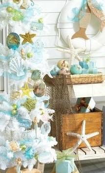 Beach themed Christmas tree idea 1