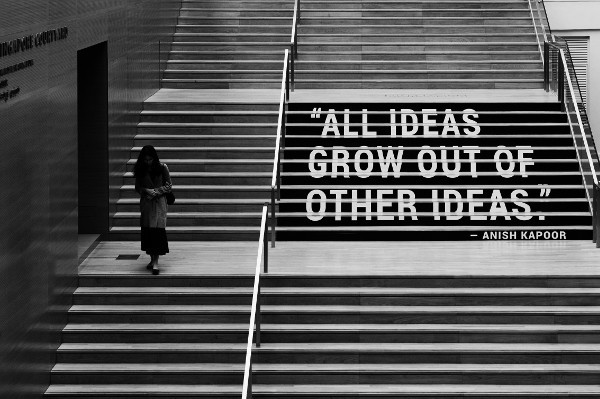 'All ideas grow out of other ideas.' - quote by Anish Kapoor