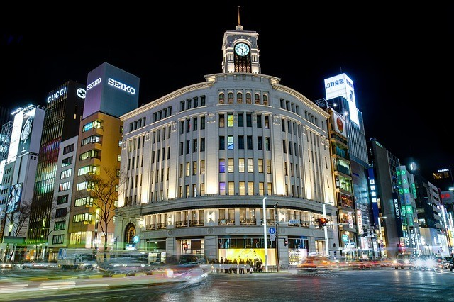 Night Time in Ginza, Tokyo