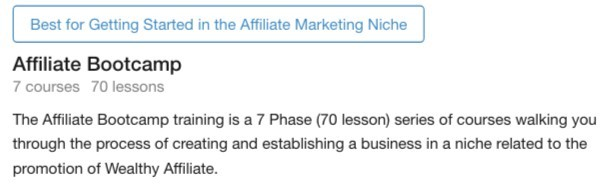 Affiliate Bootcamp at Wealthy Affiliate