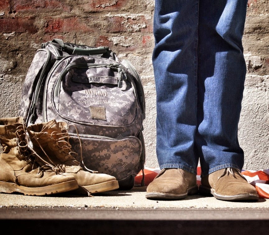 Soldier backpack transitioning to civilian life