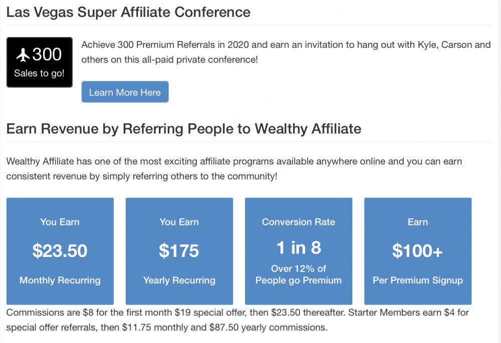 If you reading this The Wealthy Affiliate University Review You Will Discower That The Recurring Commissions You Are Able to Earn Whithin Wealthy Affiliate Are Very Good