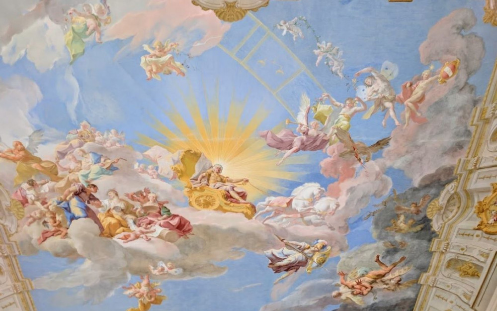 What is in Gottweig Abbey - Museum Ceiling