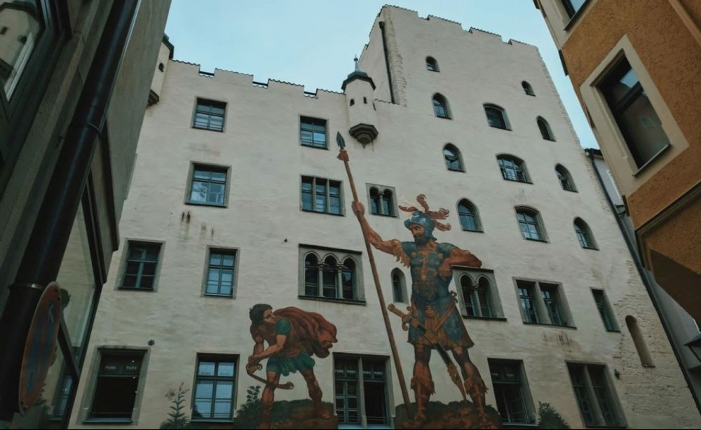 Things to do in Regensburg Germany - David and Goliath