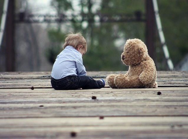 Picture of Boy with Bear ESL Picture Description