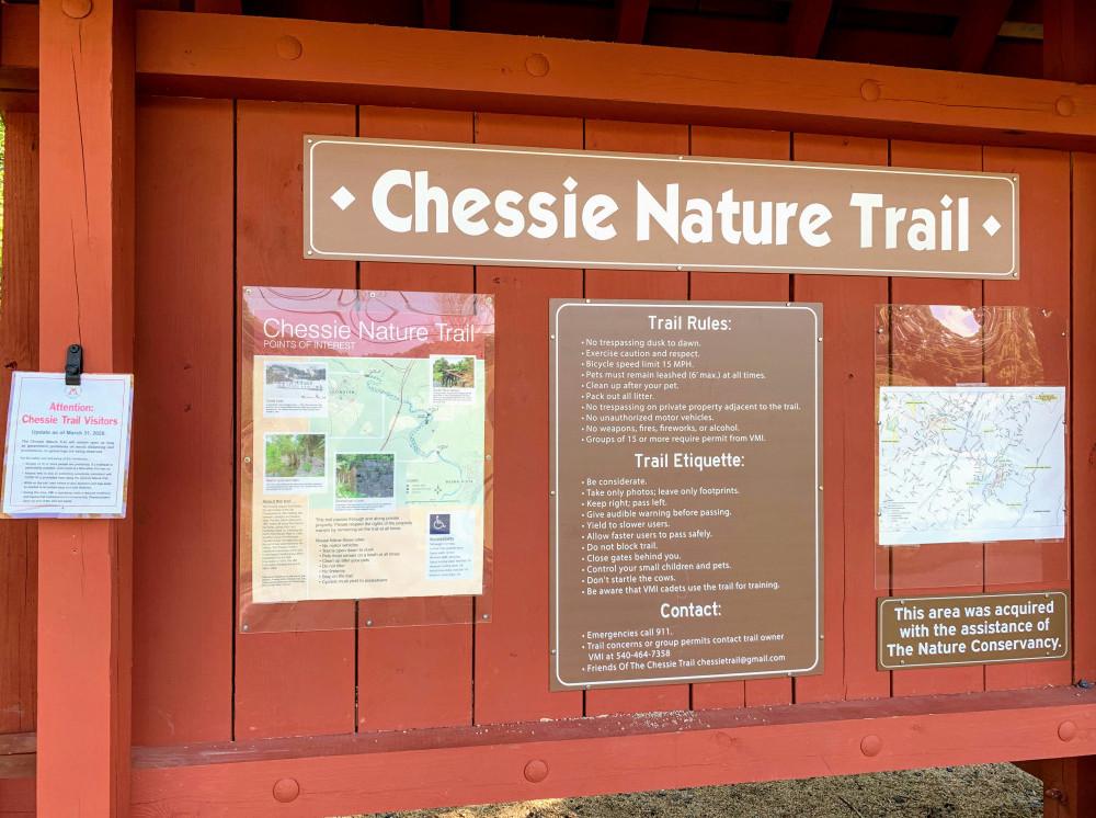 Start of Chessie Nature Trail
