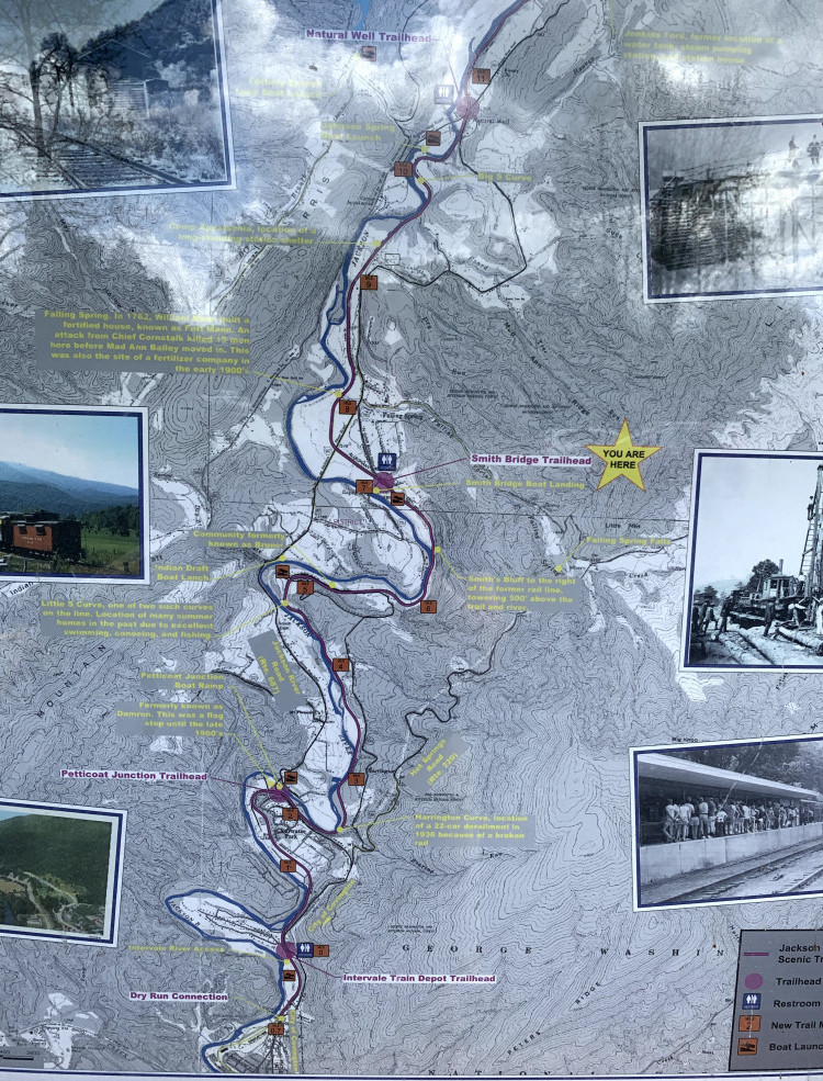Map of Jackson River Scenic Trail