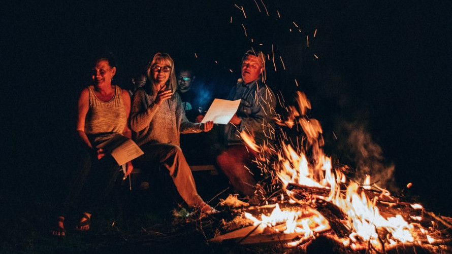 Singing by the fire