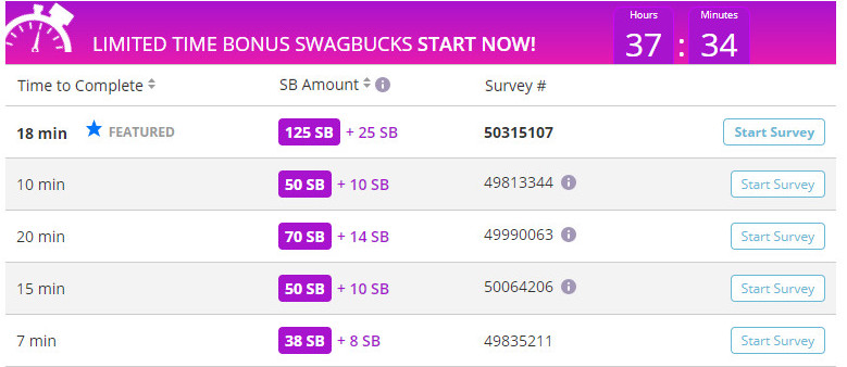 Answer Surveys To Earn Points At Swagbucks