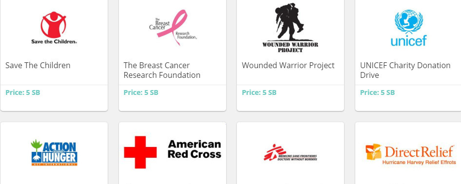 Swagbucks Donation Choices