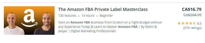 Amazon FBA private label masterclass taught by Robin & Jesper
