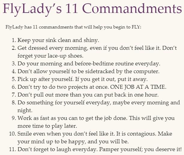 Flylady's 11 Commandments