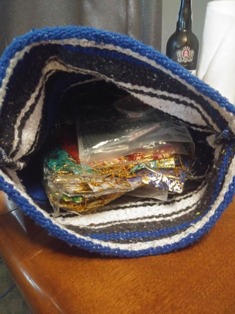 My beading bag