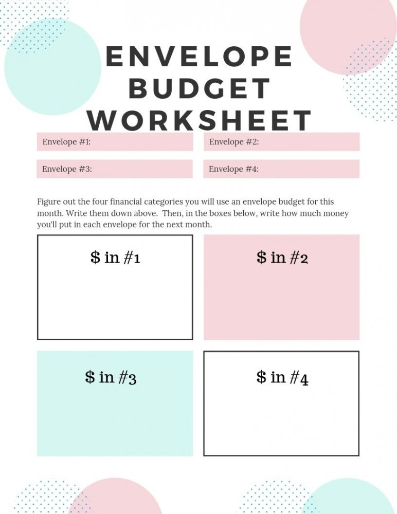 envelope budget worksheet