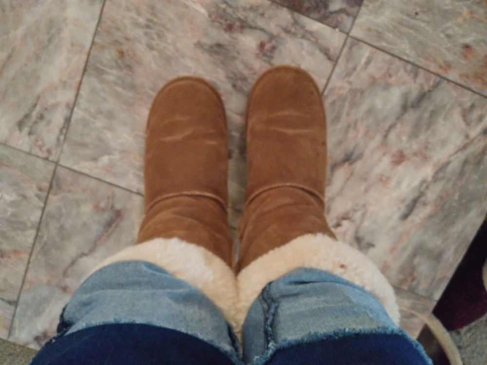 wearing my boots