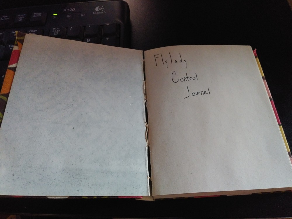 Title page for Flylady control journal