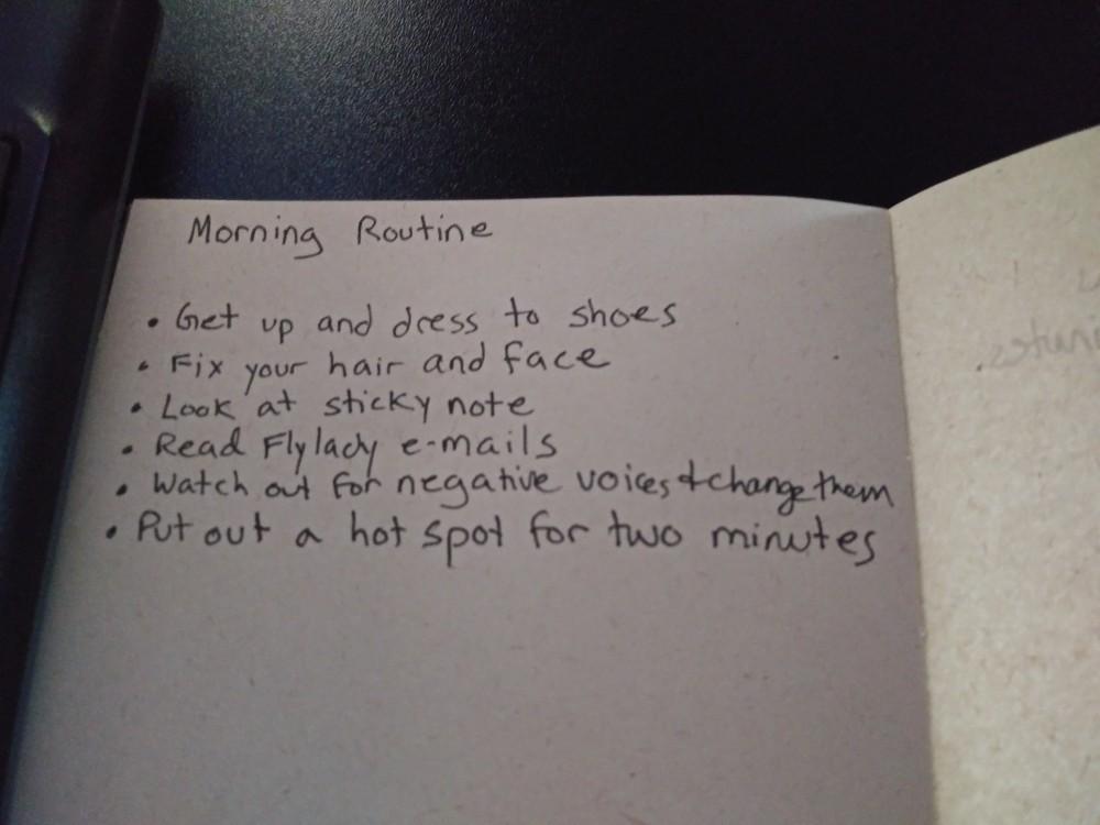 Flylady morning routine
