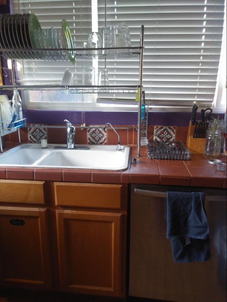 Shining kitchen sink