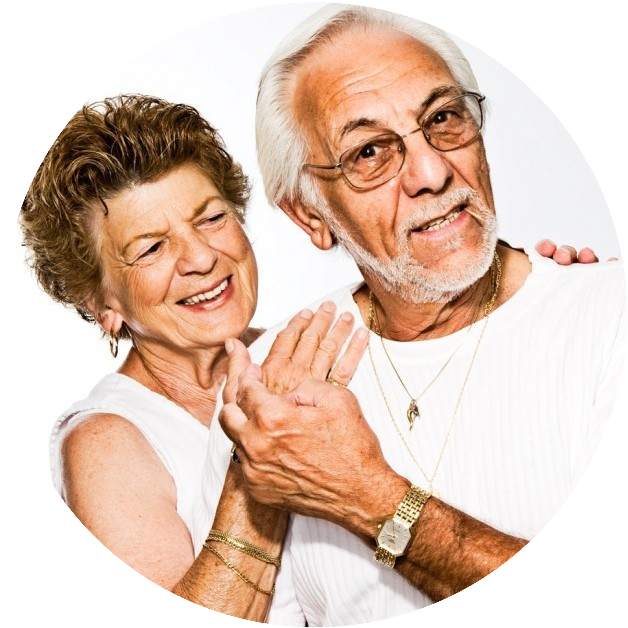 retired couple without stress