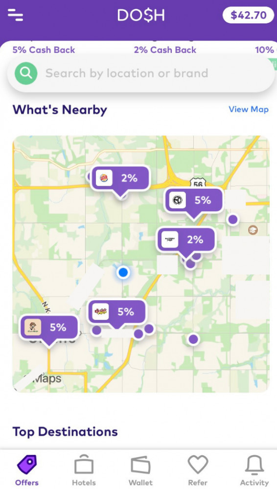 Dosh App Map