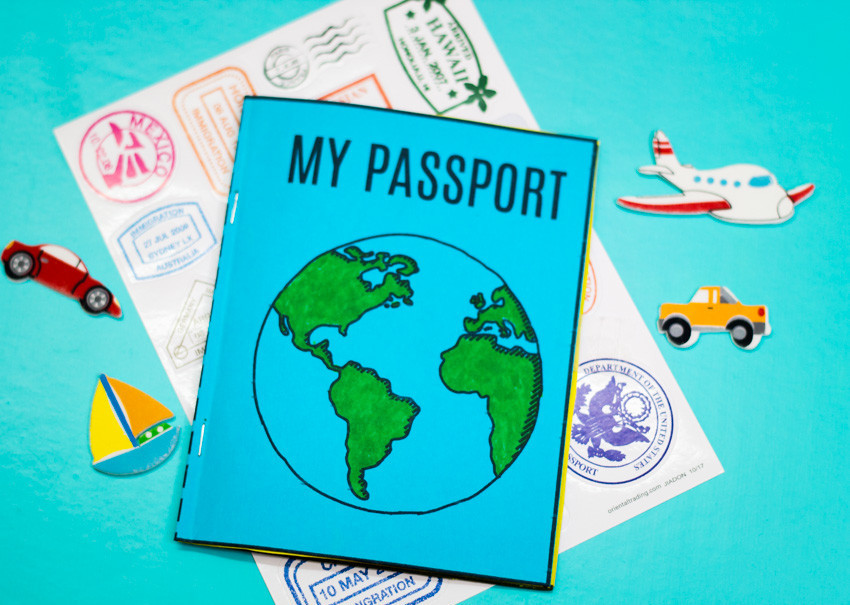 virtual trip to South America for homeschoolers - DIY passport template