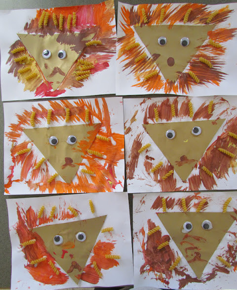 virtual trip to Africa for homeschoolers - triangle lion craft for young children