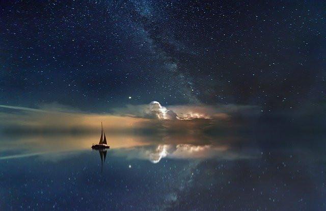 sailboat evoking peace