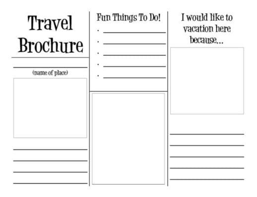 virtual trip to Africa for homeschoolers - travel brochure template