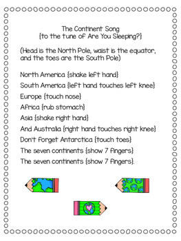 virtual trip around the world for homeschoolers - continents song