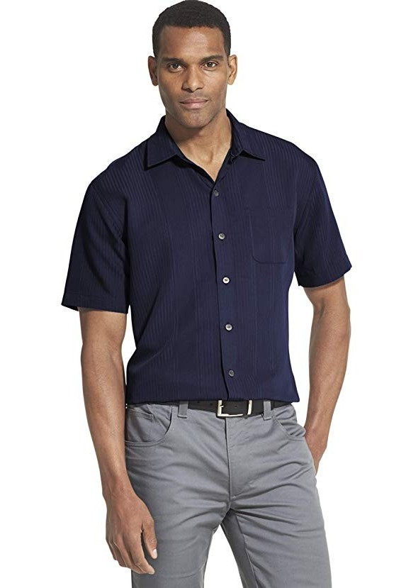 Van Heusen Men's Air Short Sleeve Button Down