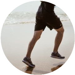 Foot landing beneath center of gravity