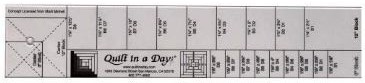 Quilt in a Day Log Cabin Ruler