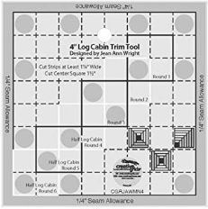 Creative Grids 4' Log Cabin Trim Tool