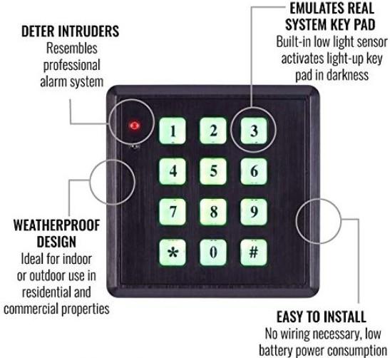 Fake keypad