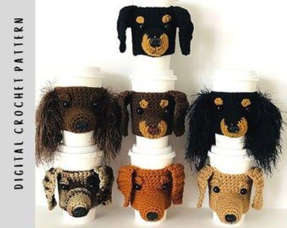 Dog Cup Cozy Crochet Pattern by HookedbyAngel