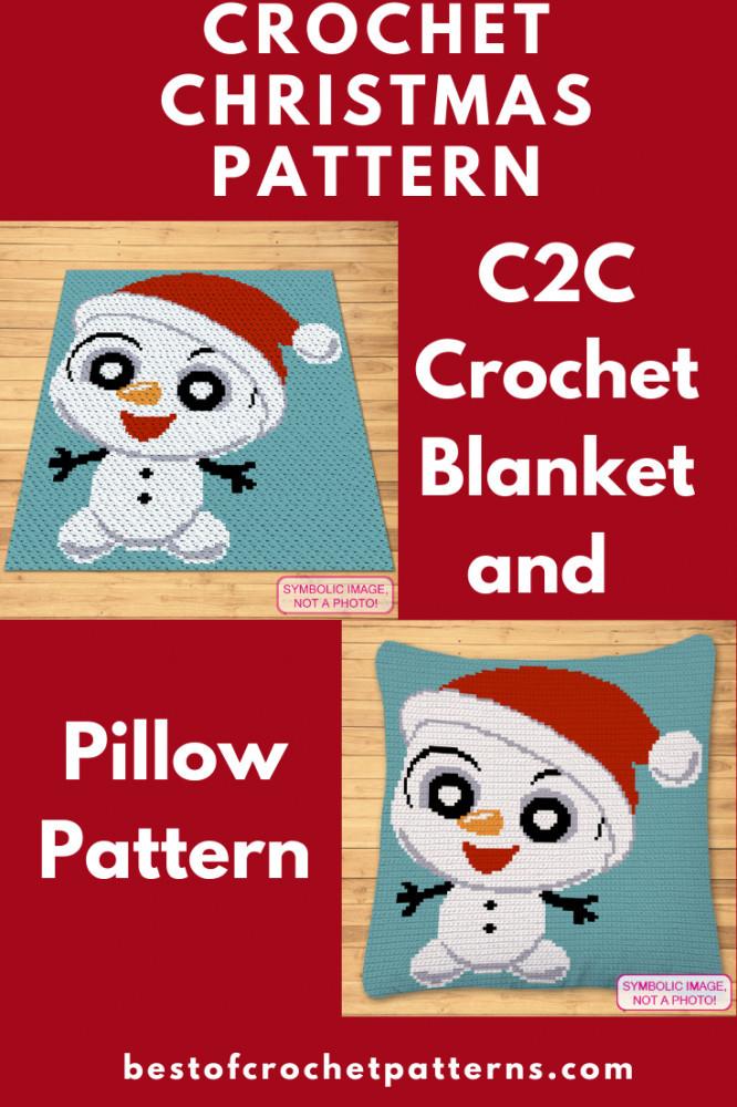 Crochet Christmas Pattern - Crochet Snowman Pattern